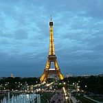 The Eiffel Tower (French: Tour Eiffel) in Paris