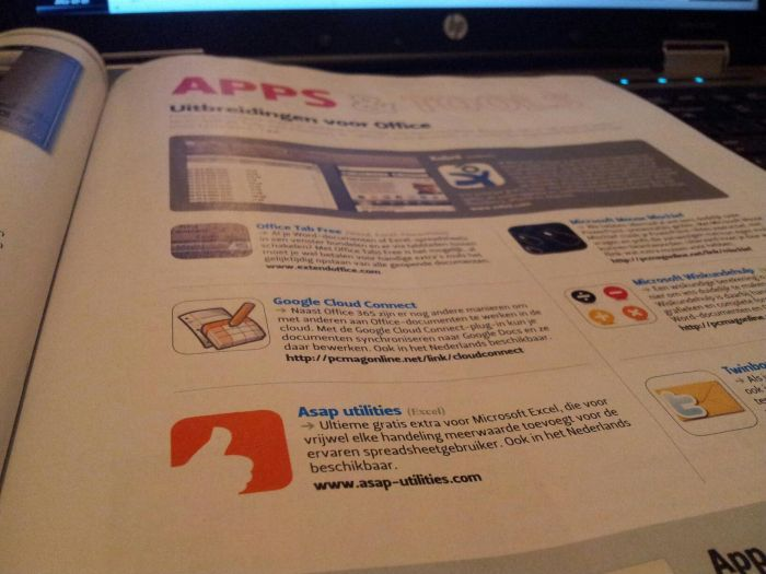 ASAP Utilities in PC Magazine 150 NL October 2011