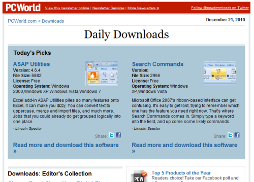 PC World - Daily Downloads: Supercharge Office