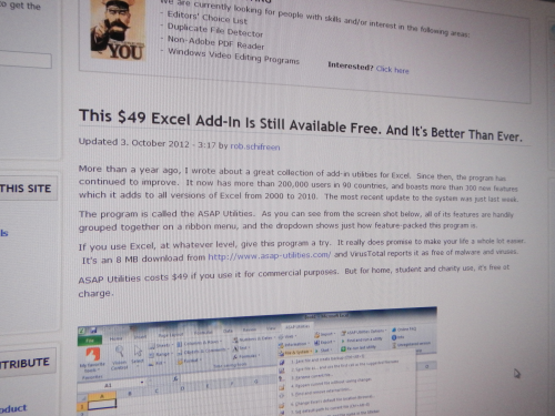 Review by Gizmo' Freeware: This $49 Excel Add-In Is Still Available Free. And It's Better Than Ever.